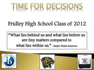 Fridley High School Class of 2012
