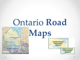 Ontario  Road Maps