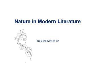 Nature in Modern Literature