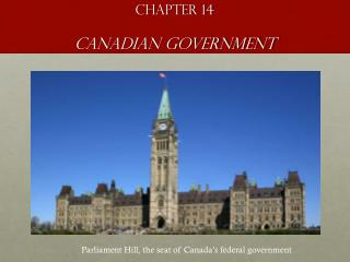 Chapter 14 Canadian Government