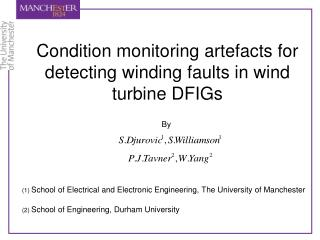 Condition monitoring artefacts for detecting winding faults in wind turbine DFIGs