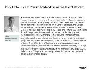 Jessie Gatto – Design Practice Lead and Innovation Project Manager
