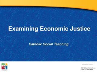 Examining Economic Justice