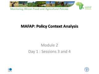 MAFAP: Policy  Context Analysis