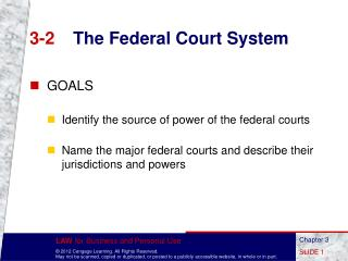 3-2	 The Federal Court System
