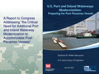 U.S. Port and Inland Waterways Modernization Strategy