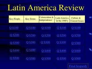 Latin America Review