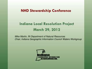 NHD Stewardship Conference
