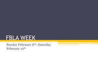 FBLA WEEK