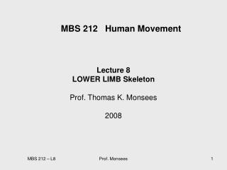 MBS 212   Human Movement