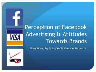 Perception  of Facebook Advertising &  Attitudes  Towards  Brands