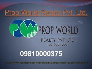 Jaypee Aman Resale Price 09810000375 Noida Sector 151