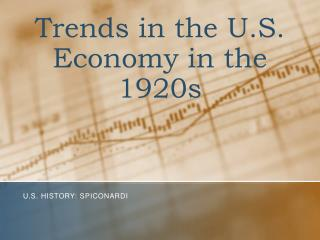 Trends in the U.S. Economy in the 1920s