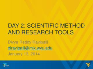 Day  2: Scientific method and research tools
