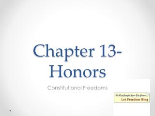 Chapter 13-Honors