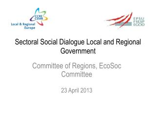Sectoral  Social Dialogue Local and  Regional Government
