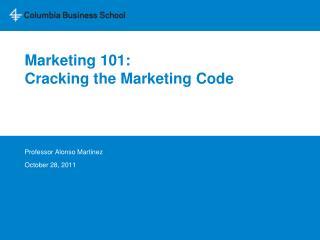 Marketing 101: Cracking the Marketing Code