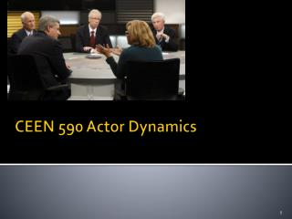 CEEN 590 Actor Dynamics