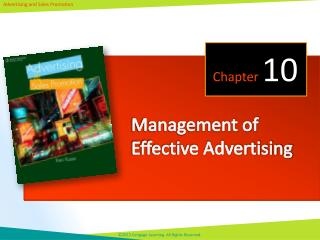 Management of Effective Advertising