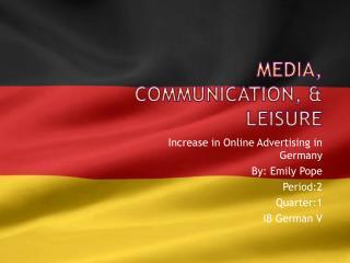 Media, Communication, & Leisure