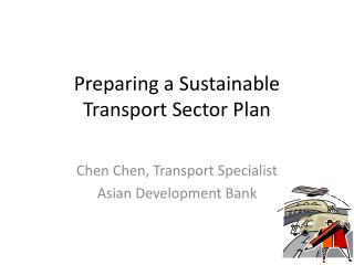 Preparing a Sustainable Transport Sector Plan
