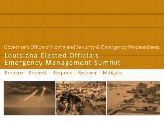 Prepare    Prevent    Respond    Recover    Mitigate