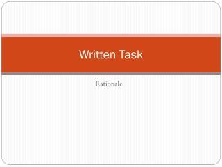 Written Task