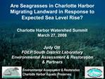 Are Seagrasses in Charlotte Harbor Migrating Landward in Response to Expected Sea Level Rise