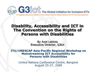 ITU/UNESCAP Asia-Pacific Regional Workshop on Mainstreaming ICT Accessibility for