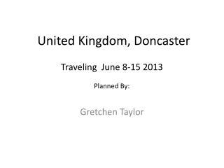 United Kingdom, Doncaster