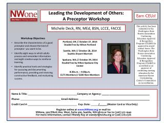 Leading the Development of Others: A Preceptor Workshop