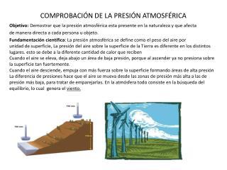 COMPROBACIÓN DE LA PRESIÓN ATMOSFÉRICA