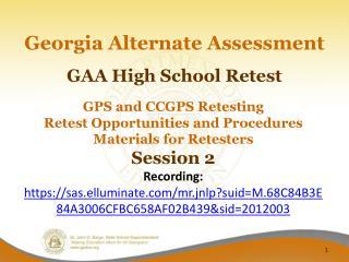 GAA High School Retest