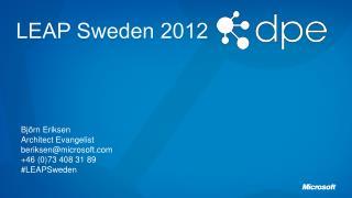 LEAP Sweden 2012