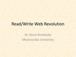 Read/Write Web Revolution