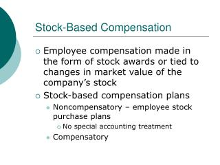 Compensatory stock options taxation