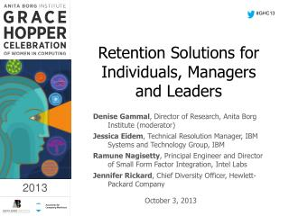 Retention Solutions for Individuals, Managers and Leaders