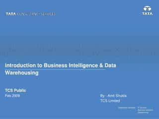 Introduction to Business Intelligence & Data Warehousing