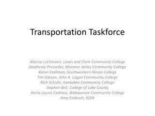 Transportation Taskforce