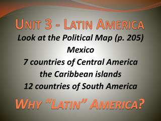 Unit 3 - Latin America
