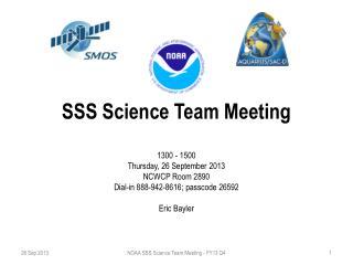 SSS Science Team Meeting