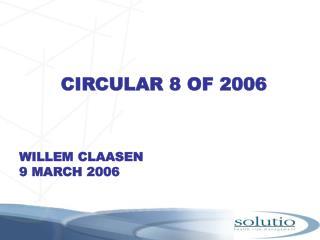 CIRCULAR 8 OF 2006