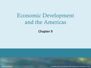 Economic Development  and the  Americas