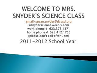 2011-2012 School Year