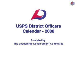 USPS District Officers Calendar - 2008
