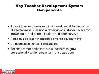 Key Teacher Development System Components
