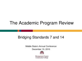 The Academic Program Review