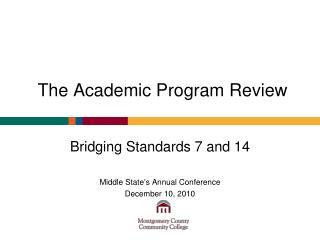 The Academic Program Review