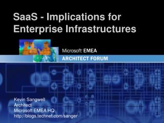 SaaS - Implications  for Enterprise Infrastructures