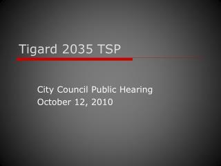 Tigard 2035 TSP